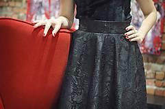Sukne - Čierna kruhová sukňa - 6274828_