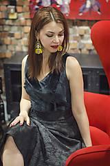 Sukne - Čierna kruhová sukňa - 6274884_