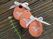 Dekorácie - veľkonočné vajíčko/so srdiečkom - 6271794_
