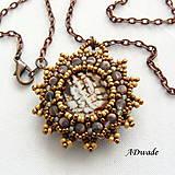 Náhrdelníky - Korálkový náhrdelník 589-0025a - 6278778_
