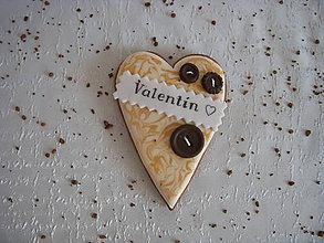 Dekorácie - medovníkové srdce na Valentína - 6277403_