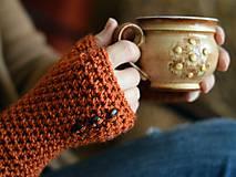 Rukavice - Bezprstové...oranžové - 6277089_
