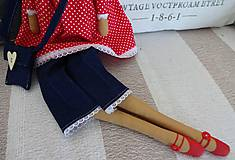 Bábiky - Dáma v červenom klobúku - 6275636_