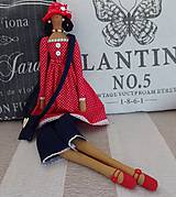 Bábiky - Dáma v červenom klobúku - 6275637_