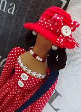 Bábiky - Dáma v červenom klobúku - 6275641_