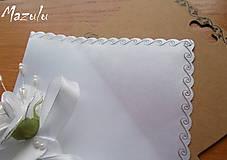 - biela svadobná  vreckovka I. - 6276407_