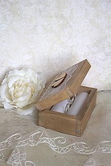 Prstene - Krabička na prstienky Romantic - 6276575_