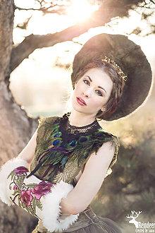 Rukavice - Kvetinový vintage rukohrej (muff) - 6278829_