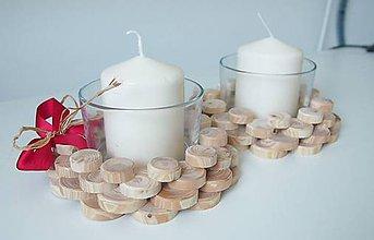 Svietidlá a sviečky - Drevený svietniček aj na Veľkú noc - 6277978_