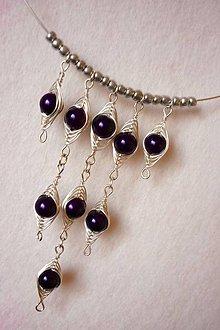 Náhrdelníky - Fialový náhrdelník - 6278440_