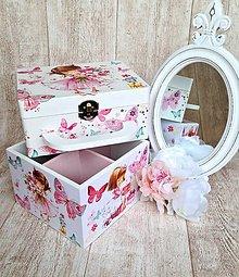 Krabičky - Dievčatko s kytičkou - set - 6277913_
