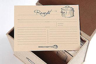 Papiernictvo - Kartičky do receptára II 50 ks - 6277622_