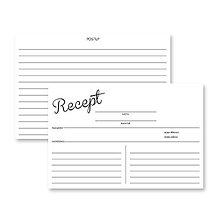 Papiernictvo - Kartičky do receptára III 50 ks - 6277633_