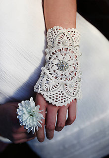 Náramky - Luxusný svadobný náramok - 6275908_