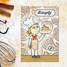 Papiernictvo - Receptárik Sladký kuchárik vzorovaný - 6275929_