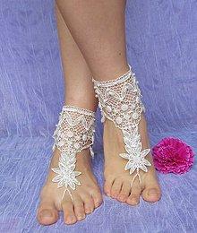 Iné šperky - Svadobné krajkové nákotníky V - pár - 6277722_