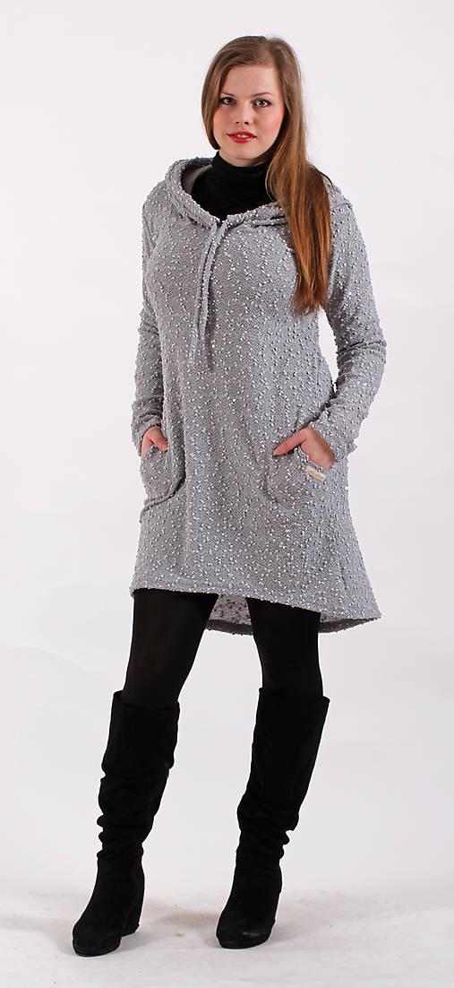Světlešedé šaty s kapucí s flitry   ladeesse - SAShE.sk - Handmade ... fc1ea5b2b0