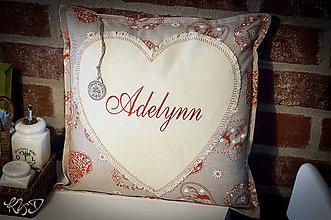 """Úžitkový textil - Vankúšik """"Adelynn"""" - 6282484_"""