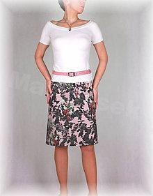 Sukne - Sukně krásná riflovina růže vz.328 - 6282310_