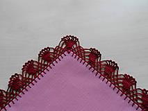 Úžitkový textil - Ružové prestieranie III. - 6282367_
