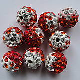 - Disco guľka Crystal 10mm-červená-1ks - 6279185_