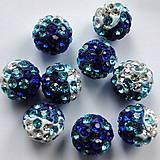 - Disco guľka Crystal 10mm-modrá-1ks - 6279193_