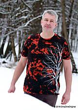 Tričká - Pánske tričko farbené a maľované BIELY - 6279710_