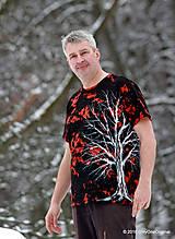 Tričká - Pánske tričko farbené a maľované BIELY - 6279719_