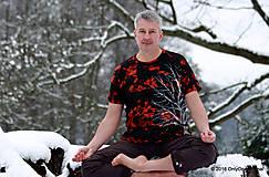 Tričká - Pánske tričko farbené a maľované BIELY - 6279722_