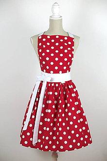 Iné oblečenie - ŠATOVÁ KUCHYNSKÁ ZÁSTERA RETRO RED - 6283201_