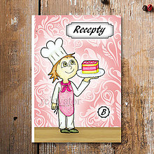 Papiernictvo - Receptárik Sladký kuchárik (punčový rez) - 6282501_