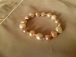 Náramky - Náramok z riečnych perál. - 6286192_