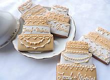 Darčeky pre svadobčanov - Svadobné medovníkové tortičky - 6284239_