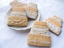 Darčeky pre svadobčanov - Svadobné medovníkové tortičky - 6284243_