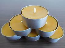 Svietidlá a sviečky - Čajová sviečka - včelí vosk - 6284495_