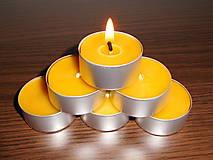 Svietidlá a sviečky - Čajová sviečka - včelí vosk - 6284545_