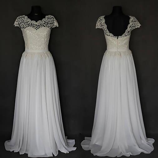 Svadobné šaty v ľudovom štýle s bohato riasenou sukňou farba ivory alebo  biela 6efe977fe2f