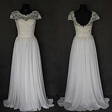 Šaty - Svadobné  šaty v ľudovom štýle s bohato riasenou sukňou farba ivory alebo biela - 6284526_