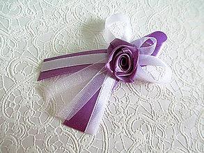 Pierka - svadobné pierka fialové - 6285176_