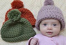 Detské čiapky - Na najmenšie hlavičky - 6284321_