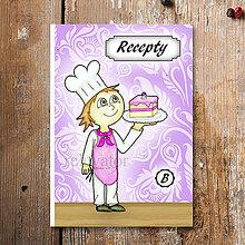 Papiernictvo - Receptárik Sladký kuchárik (čučoriedkový koláč) - 6287365_