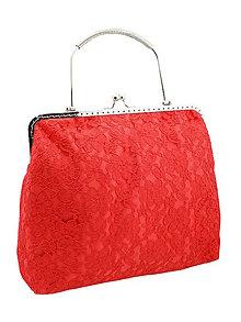 Kabelky - Spoločenská dámská čipková kabelka červená 0976A1 - 6289291_