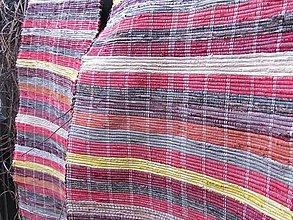Úžitkový textil - KOBEREC tkaný červeno-bordový 70x250cm - 6290390_