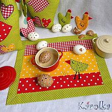 Úžitkový textil - Veľkonočné prestieranie - Z farebného vajíčka n.3 (2) - 6289028_