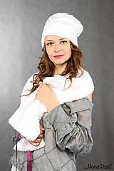 Čiapky - La NEIGE - kožušinová čiapka - 6290836_