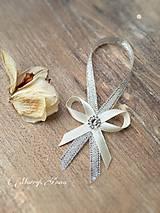 Darčeky pre svadobčanov - Stuha na fľaše Ivory - 6289996_
