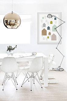 Grafika - Pastelový domov / tištěná ilustrace - 6291347_