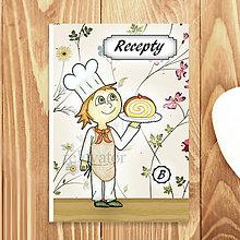 Papiernictvo - Receptárik Sladký kuchárik (kvetový) - 6291668_