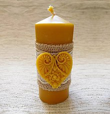 Svietidlá a sviečky - Romantická sviečka so srdiečkom - 6292901_