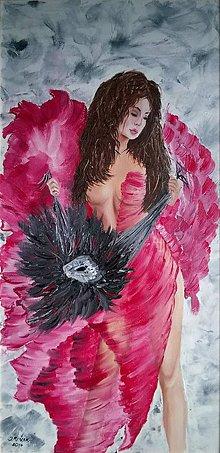 Obrazy - Žena s maskou - 6296280_